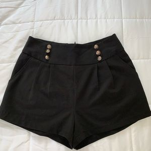 Black sailor shorts